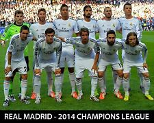 REAL MADRID 2014 Champions League Final (starting line-up) - 8x10 Color Photo