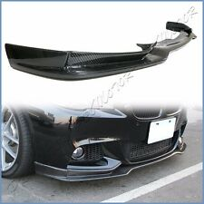 Carbon Fiber End CC Front Extended Lip For BMW F10 528i 535i 550i M Tech Bumper