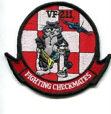 VF-211 CHECKMATES US NAVY GRUMMAN F-14 TOMCAT Mascot Squadron Shoulder Patch