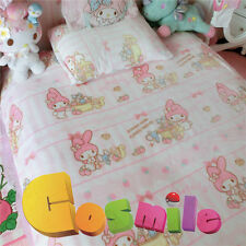 "Kawaii Bowknot My Melody Kitty Blanket Bed Sheet Flannel Big 79"" x 79"" Cos Gift"