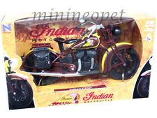 NEW RAY 42113 1934 INDIAN SPORT SCOUT CLASSIC MOTORCYCLE 1/12 BROWN