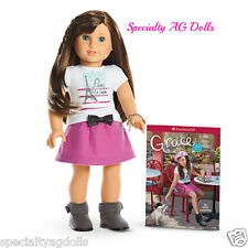 "American Girl GRACE THOMAS Doll of the Year Bracelet and Book NEW 18"" FAST SHIP"