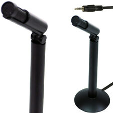 3.5 mm MINI MICROFONO STEREO-PC / MAC / Laptop AUX-Telefono compatto record audio base