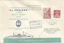 MARITIME :1964 ESBJERG-HARWICH-PAQUEBOT cachet -Danish stamps  special cover