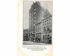 BE123: Brooklyn Eagle View #153 1905 Postcard, REAL ESTATE EXC BLDG MONTAGUE  ST