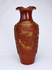 Asie / Chine Vase en grès de Xying à décor de dragons .Asia Sandstone China Cina