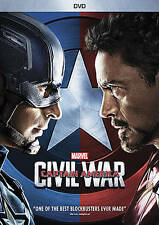 CAPTAIN AMERICA: CIVIL WAR (DVD 2016) BRAND NEW~ CHRIS EVANS & DOWNEY JR STAR~