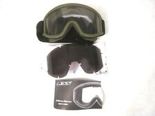 US Army/USMC Issued ESS Land Ops Goggles w/Fabric Cover for Kevlar Helmet - OD