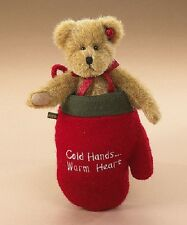"Retired BOYDS 904585 Cozy Toes Woolsey 6"" Bear in Christmas Stocking - Hang Tag"