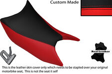 BLACK & RED CUSTOM FITS SYM WOLF SB 125 NI FRONT LEATHER SEAT COVER