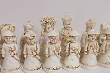New Chinese Chess Set (Qing Dynasty Figure) 32 Pieces - Large Size (Chess Only)