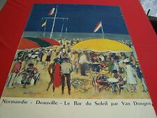 Original Vintage Poster Normandie Deauville by Kies Van Dongen 1960 French Beach