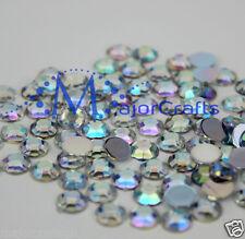 100pcs Crystal AB 12mm Flat Back Thick Taiwan Acrylic Rhinestones Craft Gems C38
