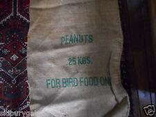 Old Hessian Jute Sack Peanuts 25kg 44 x 88kg see other similar