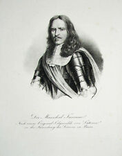 C1830 vicomte de turenne MARECHAL de FRANCE LITHOGRAPHIE-portrait Kneisel Brand
