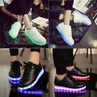 Unisex USB Charger LED Lights Luminous Shoes Lace Up Casual Sportswear Sneakers