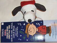 Peanuts Charlie Brown Musical Christmas Tree AND Musical gemmy Snoopy *see demo*