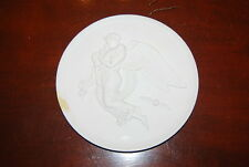 VINTAGE ROYAL COPENHAGEN WHITE BISQUE PARIAN NEOCLASSICAL ANGEL CUPID PLAQUE 1