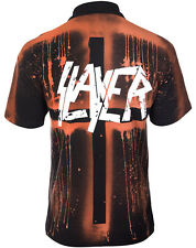 SLAYER OFFICIAL Polo Shirt Dyed by hand UNIQUE OFFICIAL ORIGINAL POLO SHIRT
