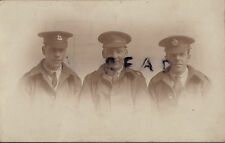 WW1 wounded soldier group hospital blues Berkshire Regiment KRRC Royal Engineers