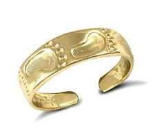 9 Ct Gold Footprint Toe Ring Hallmarked