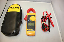 FLUKE 323 TRUE RMS CLAMP METER, TEST LEADS NEW **Free Shipping**
