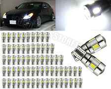 50x T10 5630 6SMD Canbus Error Free W5W 168 LED Bulbs Side Parking Light White