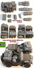 Escala 1/35 Kit De Resina Willy's Jeep Set # 1 (10 Piezas) Ww2 Accesorio estiba Set