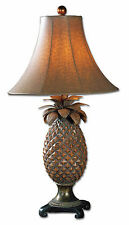 """Anana Pineapple Table Lamp 31""""H with Ostrich-Textured Shade by Uttermost 27137"""