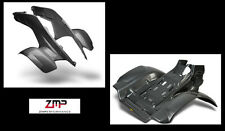 NEW HONDA TRX 250R PLASTIC BLACK CARBON FIBER FRONT AND REAR FENDER SET