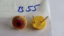 Schirmmützen Kokarde BRD Handgestickt auf gelb 1Stück (B55-)