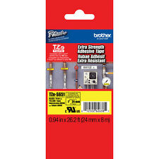 Brother TZeS651 24mm extra strength black on yellow PT7500 PT7600 PT9800PCN tape
