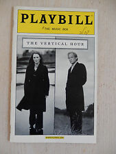 February 2007 - Music Box Theatre Playbill - The Vertical Hour - Julianne Moore