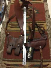 Colt Remington RIA Ruger ATI 1911 Shoulder Holster & Mag Pouch Brown Leather