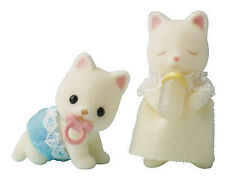 *NEW* SYLVANIAN FAMILIES 4176 Silk Cat Twins - set of 2 Babies 4cm Twin Baby