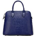"""WIEDER HIER! Thompson Luxury Bags """"Tamara"""" Croco Tasche blau Handtasche UVP 225€"""