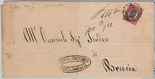ITALIA REGNO: storia postale - BUSTA da Ospitaletto / Castegnato 1882