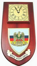 ROYAL SCOTS GREYS CLASSIC STYLE HAND MADE TO ORDER  WALL CLOCK