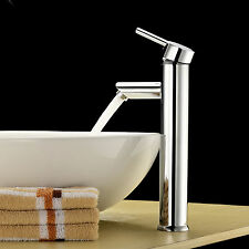 Modern Chrome Brass Waterfall Bathroom Basin Faucet Single Handle Sink Mixe
