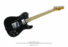 Keith Richards's Fender Telecaster Custom arte cartel A2 Tamaño