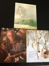 "3- 8"" X 10"" Native American Sayings Picture Prints In Litho by Dealer"
