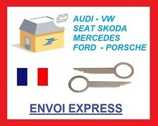 Clés clef extraction autoradio démontage Audi vw seat skoda ford mercedes Rns
