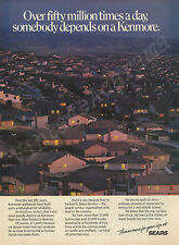 SEARS KENMORE APPLIANCES Original 1985 Vintage Color Print Ad - Suburbs at Dusk