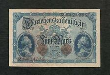 Germania banconota da 5 Marchi 5 Agosto 1914 VF+ Deutsches Reich WW1