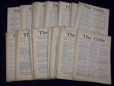1887 THE CRITIC MAGAZINE LOT OF 49 ISSUES - GREAT REVIEWS & ARTICLES - WR 799