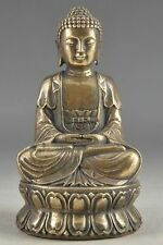 Collectable Old Chinese Tibetan Buddhism Copper Buddha Statue NR