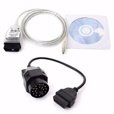 BMW INPA K+DCAN USB Interface Cable Lead + VAG 20pin OBD1 to 16pin OBD2 Adapter