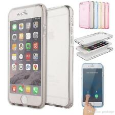 Transparent Full Body (Front and Back) Touch capability Soft Case for iphone 5.