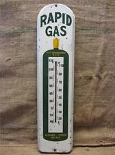 HUGE Vintage Metal Rapid Gas Thermometer   Antique Welding Bottle Iowa Sign 9121