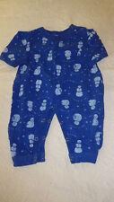 Relevant Products Baby Onesie One Piece 6-12 Months Snowman Snowmen Blue